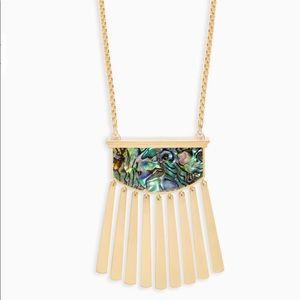 Kendra Scott Ellen Long Pendant Necklace gold